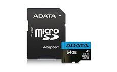 64GB ADATA MicroSDXC UHS-I 100/25MB/s + adapter