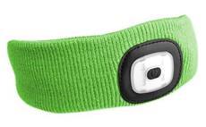 Čelenka s čelovkou, univerzální velikost, fluorescentní zelená SIXTOL