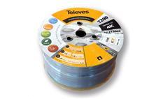 Kabel koaxiální Televes 213002 Cu / 250m / 6,9 mm / šedý / bezhalogenový