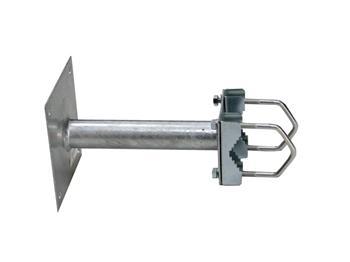 Konzola na stožár průměr 35 - 60mm, 20cm od zdi se základnou 150x150mm