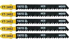 List pilový do přímočaré pily 100 mm na dřevo TPI8 5 ks YT-3402