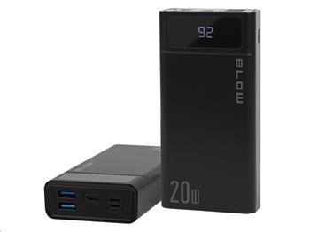 PowerBank 40000 mAh BLOW PB40A, display, USB-C