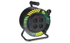PVC prodlužovací kabel na bubnu - 4 zásuvky 25m pevný střed